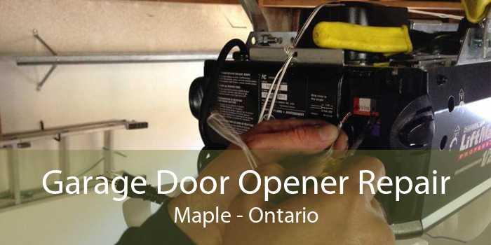 Garage Door Opener Repair Maple - Ontario
