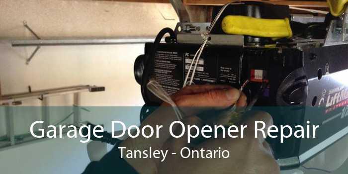 Garage Door Opener Repair Tansley - Ontario